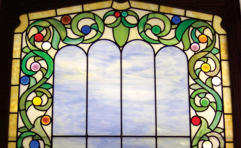 stained glass window from Studio J