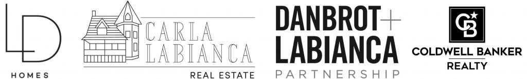logos for Lisa Danbrot, Carla Labianca, Danbrot and Labianca Partnership, Coldwell Banker Realty