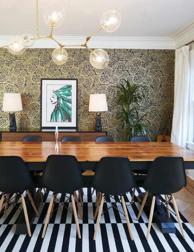 Maplewood NJ Dining Room by Alexis Goldstein. Featured on Inhabit Your Home by Carla Labianca