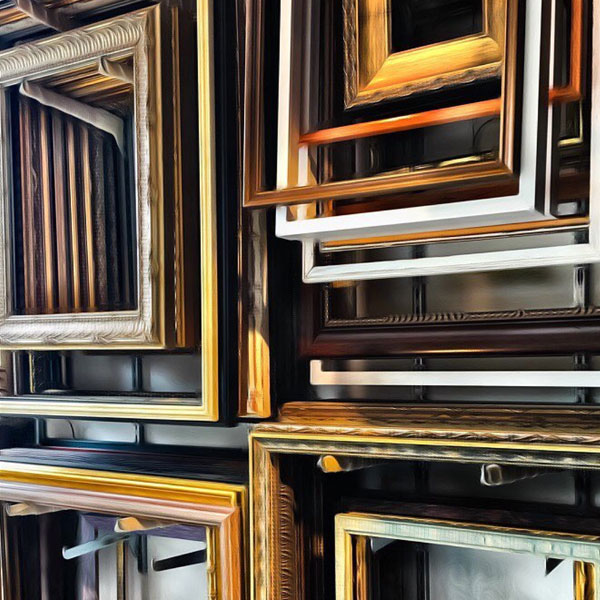 Frames from The Framing Mill, owner Rick Hauser. His frames will be on display at the re|source home show in Maplewood NJ on September 30, 2018. the re|source home show is produced by Carla Labianca and Lisa Danbrot.